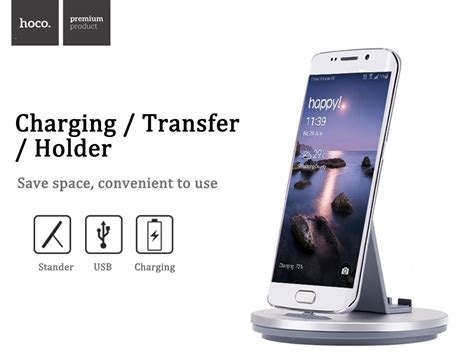 Hoco Mobile Charging Holder Cw1 With Lightning Usb dropship hoco cw1 micro usb portable stand charging