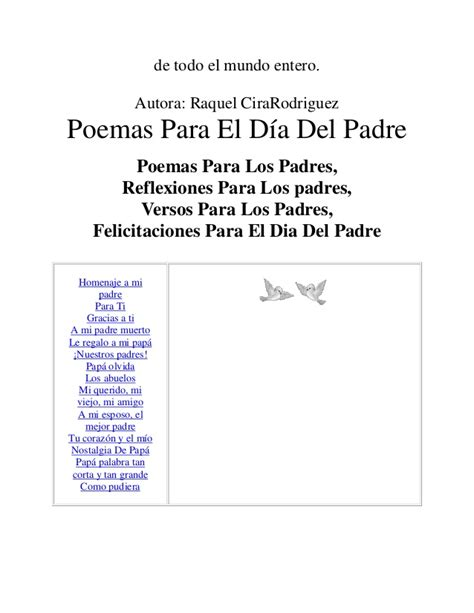 predicas corta para el dia del padre http www padreshispanos com 2008 05 tarjeta y poema