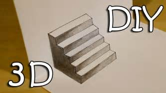 How To Draw 3d Stairs On Paper by Diy 3d Stairs How To Draw Easy 3d Stairs Optical
