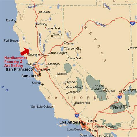california map northern ca northern california map