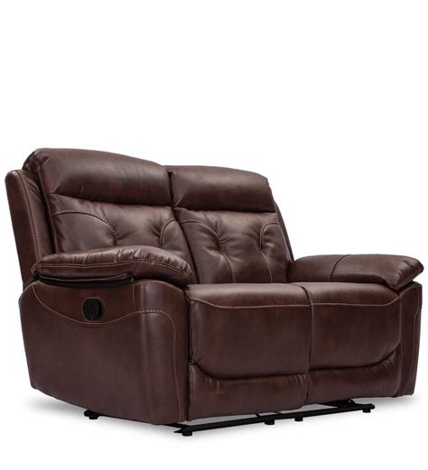 chocolate brown recliner buy dream two seater recliner in chocolate brown colour by