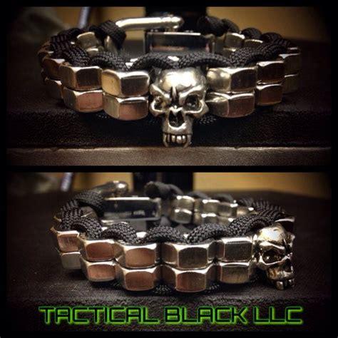 skull paracord paracord stack hexnut skull bracelet