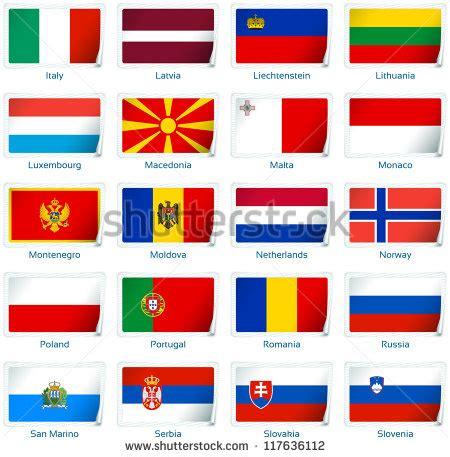 european colors sticker flags europe 2 3 vector stock vector 117636112