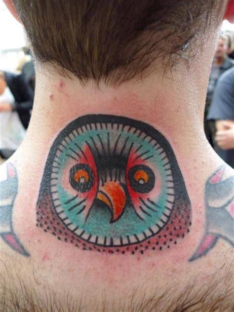 tattoo new school neck new school neck owl tattoo by chad koeplinger