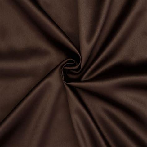 Brauner Farbton by Stretch Satin Stoff 2 Farbe Braun