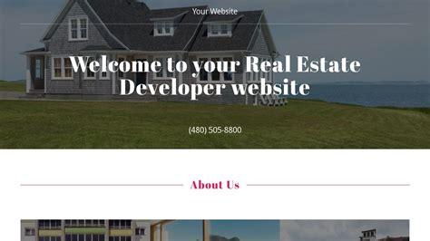 Exle 12 Real Estate Developer Website Template Godaddy Real Estate Development Website Templates
