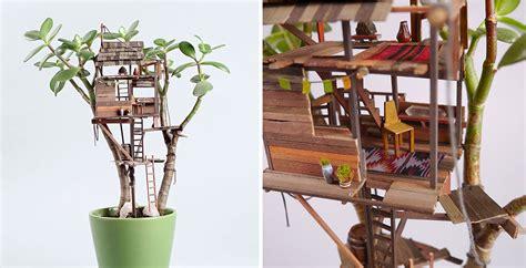 mini interno net mini treehouse piccole per piante da appartamento