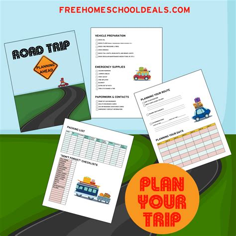 road map trip planner 9 best images of free printable road trip planning road