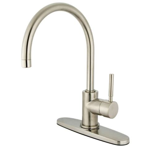 kingston brass kitchen faucet reviews reviews kingston brass ks8718dlls concord single handle kitchen faucet with 8 inch plate without