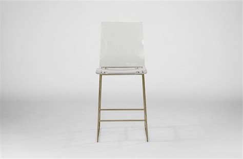 Gabby King Counter Stool by Clear Acrylic Counter Stool Lucite And Gold King Gabby