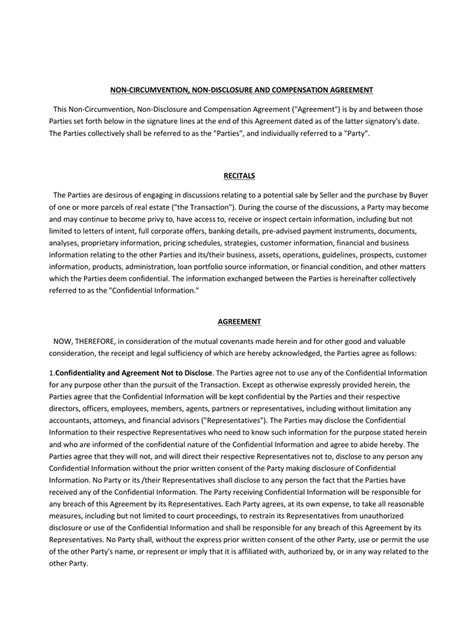 ncnd agreement template comfortable ncnd template contemporary exle resume