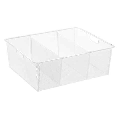 Container Store Drawer Dividers by White Elfa Mesh Drawer Dividers The Container Store