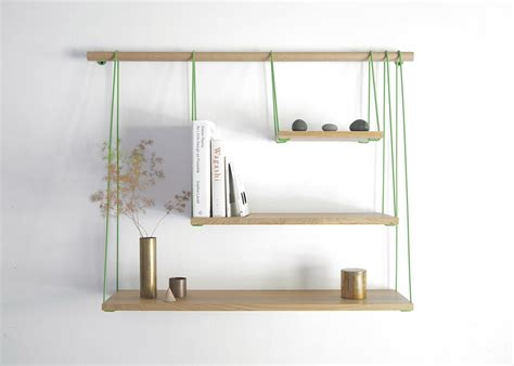 hanging shelf ideas wooden bridge shelves diy wall shelf project minimalist