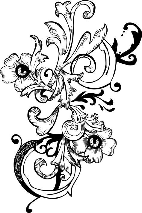 floral corner vector png images elegant flower corner