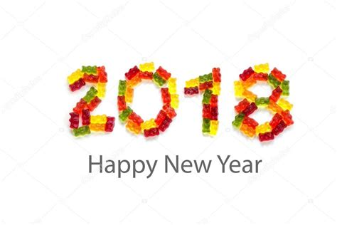 testo di happy best 28 happy new year 2018 isolated stock images