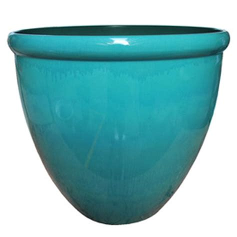 Hdr Planter by Shop 18 Quot Large Teal Hdr Planter At Lowes