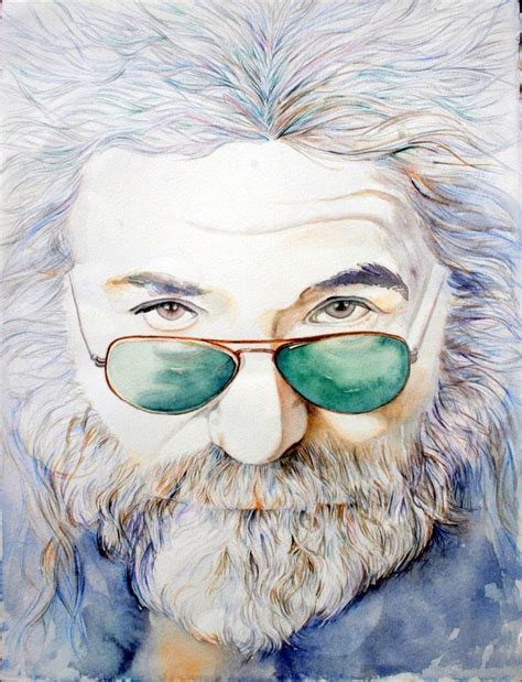 jerry painting jerry garcia print of original watercolor painting