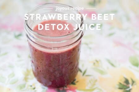 Straw Detox Tool by Strawberry Beet Detox Juice Joyous Health Recipe