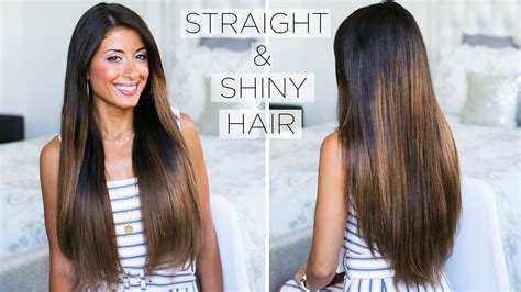 how to do straight hairstyles how to get shiny straight hair my straight hair routine