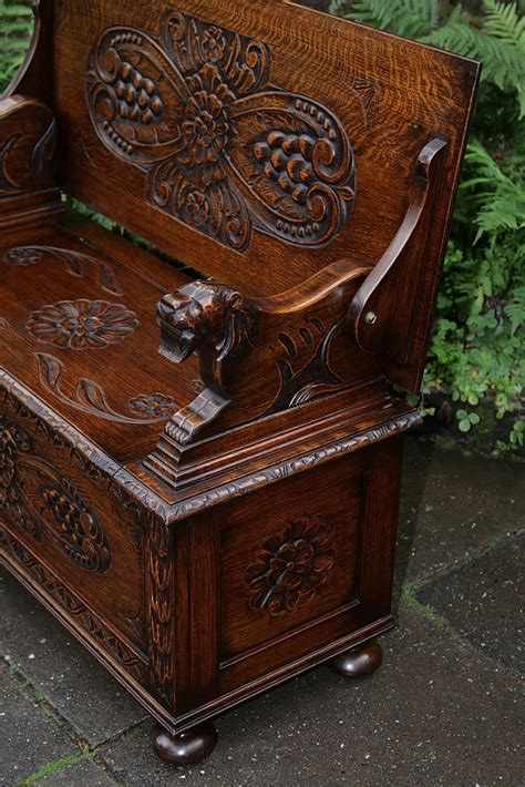 monks bench for sale carved oak monks bench settle hall seat table armchair pew