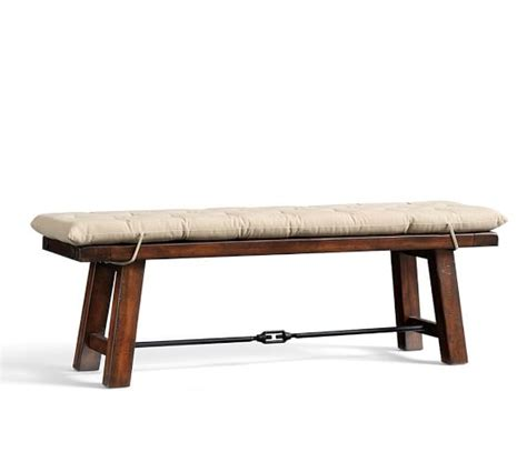 pottery barn bench seat benchwright bench cushion pottery barn