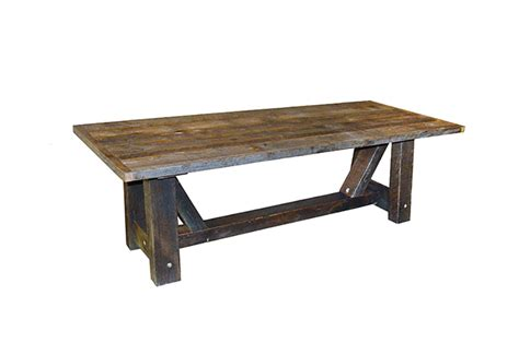 solid wood farm table 60 quot x 60 quot solid oak farm table from reclaimed barn wood