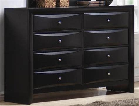 Inexpensive Black Dresser Coaster Dresser With Brushed Chrome Accents In Glossy