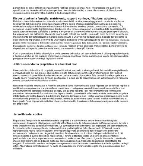 codice napoleonico testo stato risorgimentale e codificazione unitaria