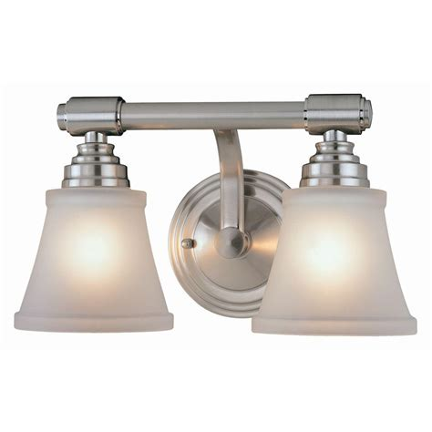 hton bay 2 light brushed nickel bath light 05380 the home depot hton bay 2 light brushed nickel bath light 25061 the home depot