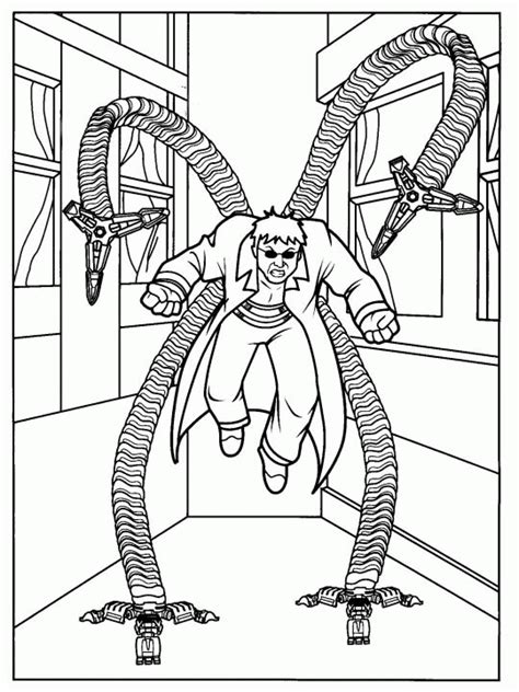 doc ock coloring pages az coloring pages