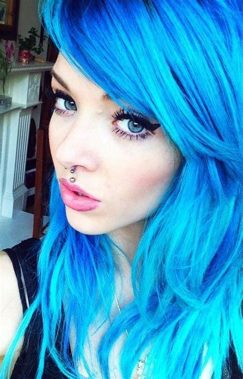 bright blue hair colors hairstyles
