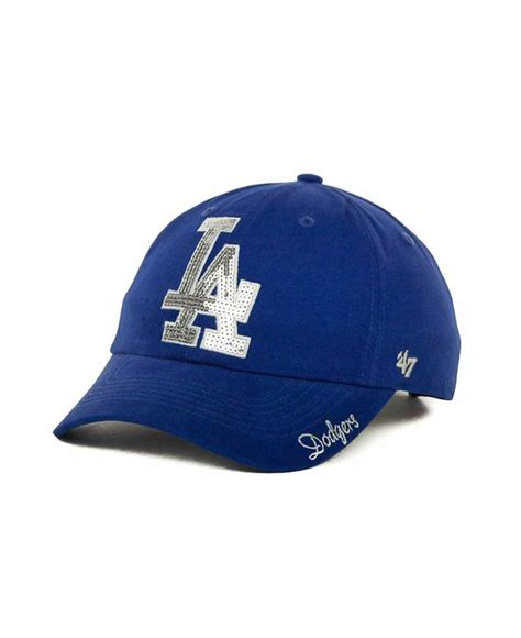 47 brand s los angeles dodgers sparkle cap in blue