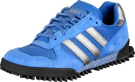 adidas marathon tra ii shoes blue silver