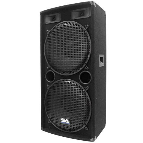 Speaker Curve 15 Inch seismic audio dual 15 inch pa dj speaker 500 watts pro audio band bar wedding