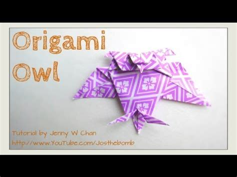 Origami Owl Diy - origami owl tutorial how to fold a paper owl easy