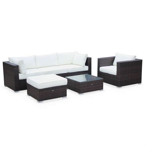 off white sofa set 5 seater garden sofa set brown off white p10855