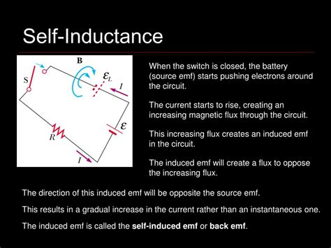 self inductor ppt inductance powerpoint presentation id 726757