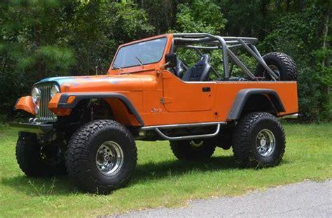 orange jeep cj sell used 1982 jeep cj8 scrambler in saint johns florida