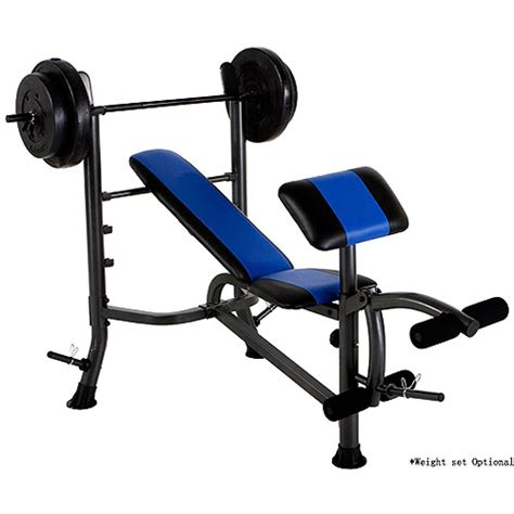 gym bench with weights gold s gym weight bench walmart com
