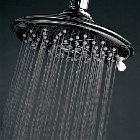 Shower Chrome Water Plus hotelspa large 6 inch shower for exceptional water coverage high pressure angle