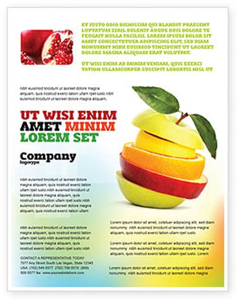flyer template nutrition cut apple flyer template background in microsoft word