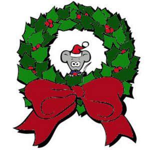 funny animated christmas wreaths wreath clipart 52
