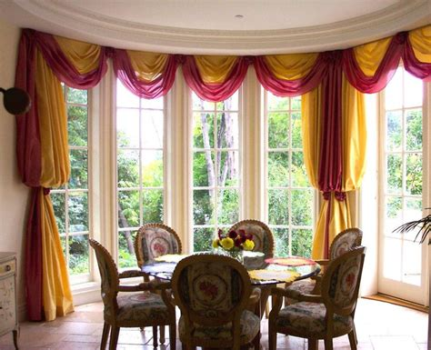 bishop sleeve curtains stationary drapes in a bishop sleeve style with a swag and
