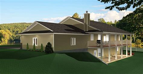 ranch floor plans with walkout basement ranch style bungalow with walkout basement a well laid out home with everything that a country