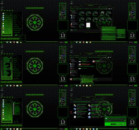 download theme for windows 7 rainmeter windows 7 themes green corporation by customizewin7 on