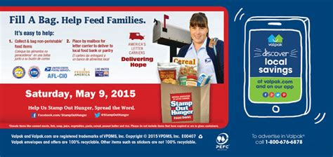 valu pak food 2015 nalc st out hunger food drive may 9th
