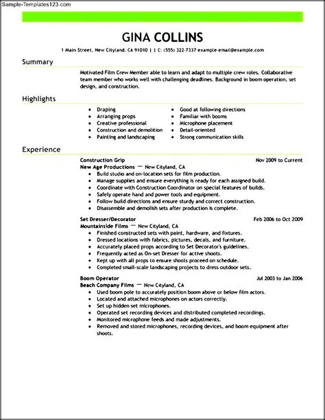 Producer Resume by Pin Resume On
