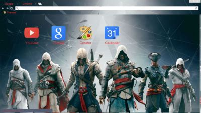 theme chrome assassin s creed assassin s creed chrome themes themebeta