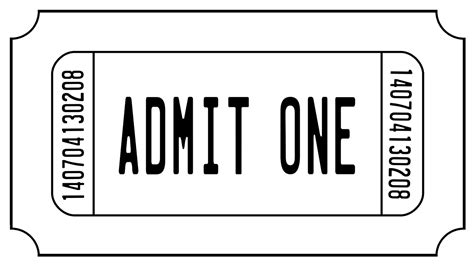 show ticket template show ticket template clipart best