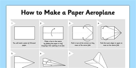 How To Make Paper Aeroplanes - how to make a paper aeroplane how to make a paper aeroplane